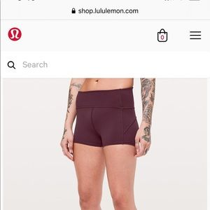 Lululemon in movement short everlux 2.5""